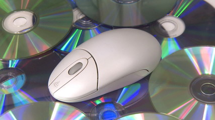 Mouse CD DVD oscillating