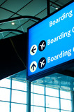Airport signage directing to boarding gates poster
