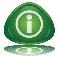 """Green """"Info"""" Button"""