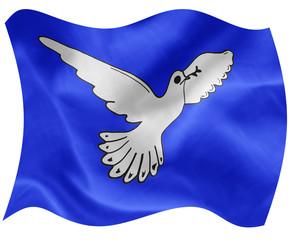 dove on flag