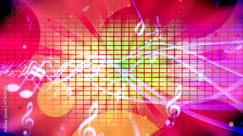 Retro Pop Music Animated Background *loop