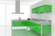 Green Kitchen Rendering