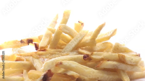 French fries isolated on white loop - HD