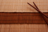 Naklejka Chopsticks and Bamboo mat 2