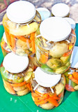 Jatr ofwinter provisions ,hot paprika, carrot, green tomato poster
