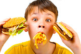 child and fast food poster