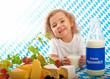Werbung für Milchprodukte