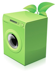 Lave-linge vert écologique (reflet)