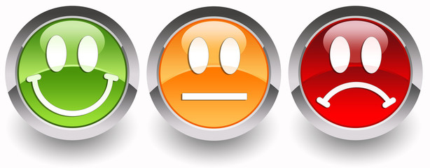 ''Smiles'' glossy icons