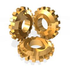 3 Gold gears
