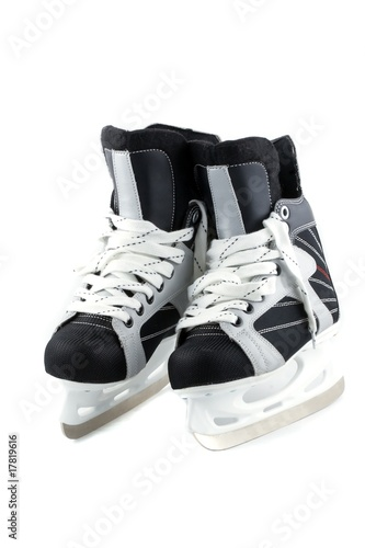 Ice skates isolated on white.