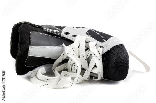 Ice skate isolated on white.