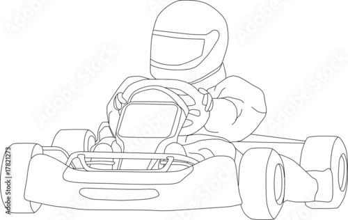 vector go kart isolated on background buy photos ap images Homemade Go Kart vector go kart isolated on background