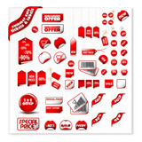 big set of vector price tags & labels