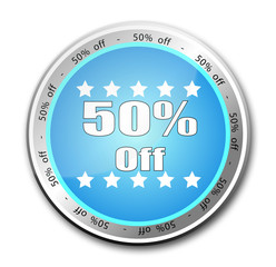 50% off button