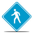 Person crossing road sign