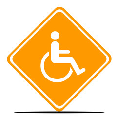 Disabled Road Sign