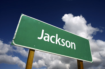 Jackson Green Road Sign