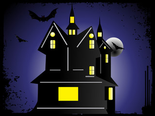 halloween cityscape background_2, wallpaper