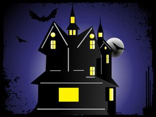 halloween cityscape background_2, wallpaper
