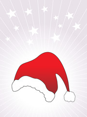 wallpaper, vector santa's cap