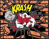 Fototapety Comic book - Iron fist
