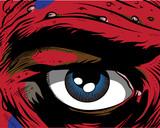 Fototapety Comic book - eye