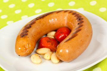 Riesen - Bratwurst , gegrillt