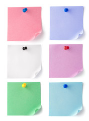 set color blank sheets of paper for notes
