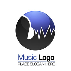 Music Logo template Web 2.0