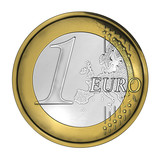 One euro coin high detailed cgi poster