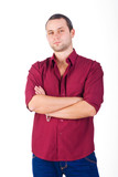 Assertive young men isolated poster