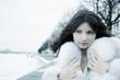 Girl in winter city