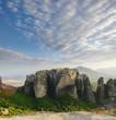 rock of Meteora at dusk