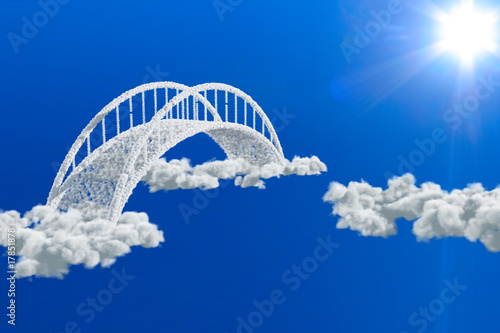 bridge in clouds