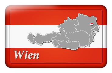 3D-Button Republik Österreich - Wien
