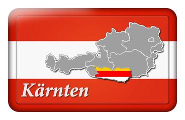3D-Button Republik Österreich - Kärnten