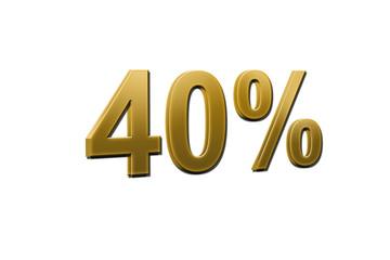 baisse 40 pour cent