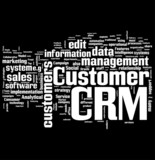 CRM word collage