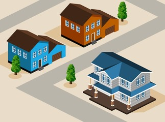 House Isometric Vector