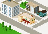 Fototapety Building Isometric vector