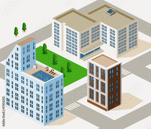 Detailed Building Isometric Vector Series...