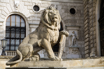 Vienna - lion for national library