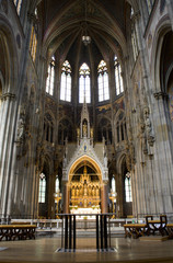 Vienna - interior of Votivkirche - gothic church
