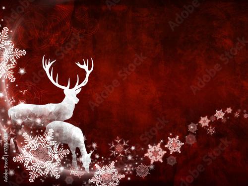 weihnachtliches motiv mit hirsch und reh stockfotos und. Black Bedroom Furniture Sets. Home Design Ideas