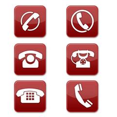 telefon red buttons