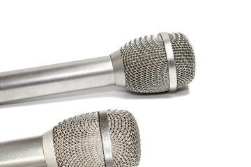 Two professional microphones