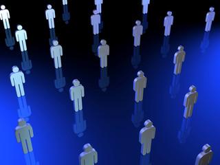 Serie3D - multitude personne