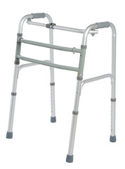 Walker, orthopeadic equipment over white