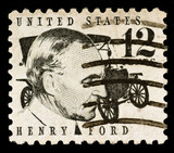 Henry Ford Postage Stamp poster